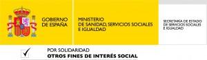 Logotipo del Ministerio de Sanidad, Servicios Sociales e Igualdad.